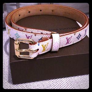 Authentic Louis Vuitton multicolor belt 70/28